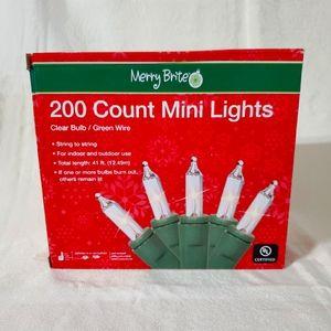 COPY - Merry Brite  Mini  Lights  Clear
